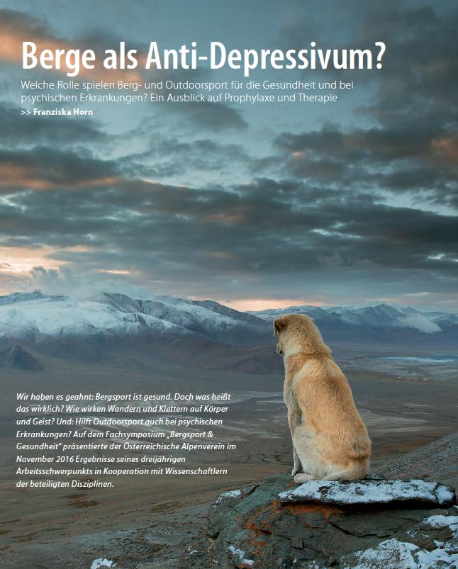 Berge als Anti-Depressivum? Alpenvereinsjahrbuch 2018 | Pauli-Trenkwalder, Berge & Psychologie