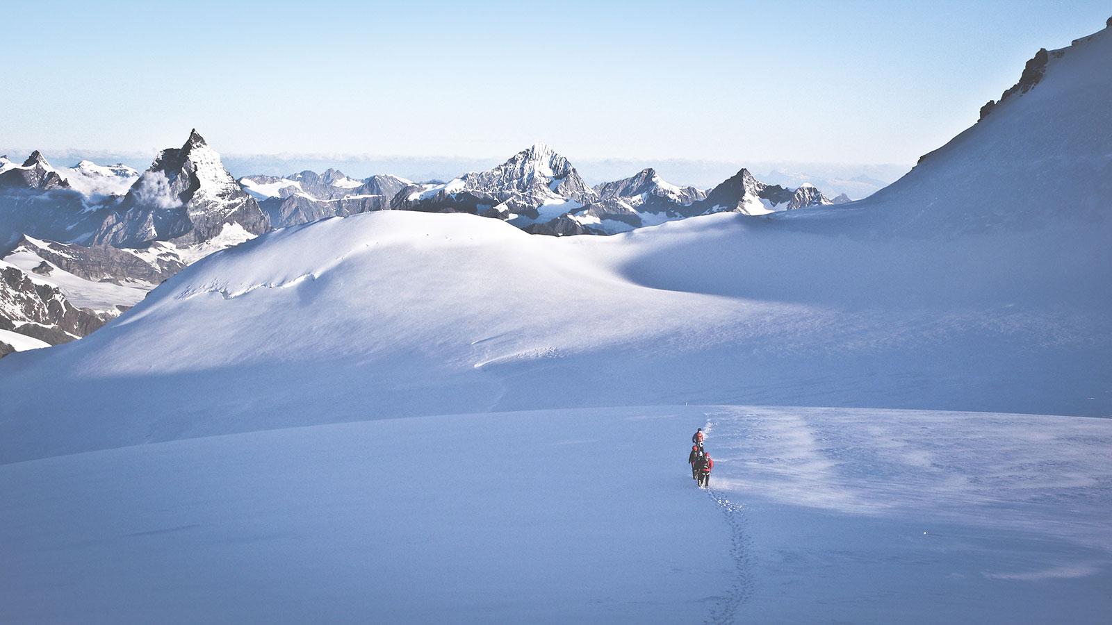 Abstieg. Bergsteigen am Monte Rosa | Pauli Trenkwalder, Berge & Psychologie