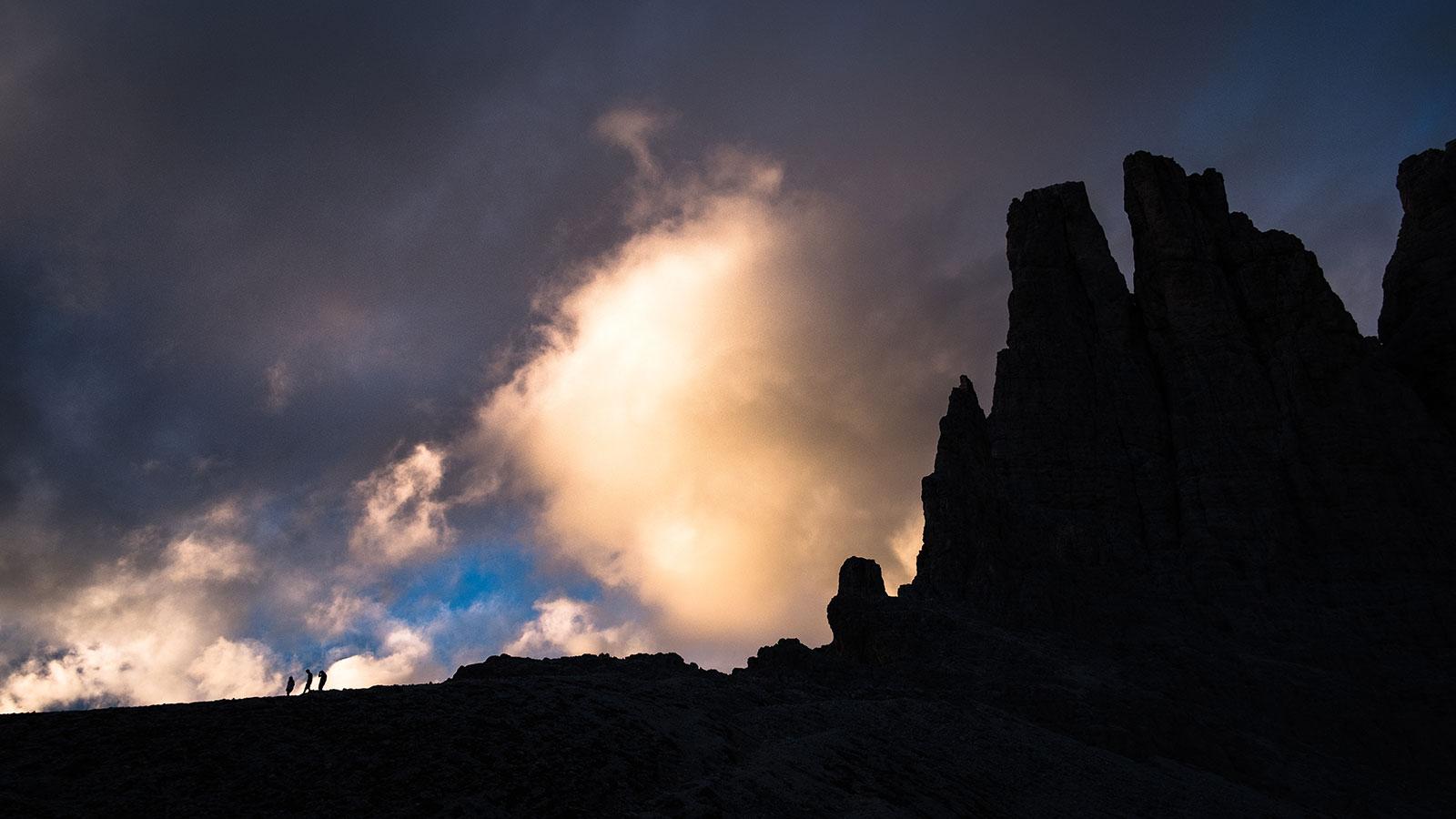 Abstieg. Vajolet, Dolomiten | Pauli Trenkwalder, Berge & Psychologie