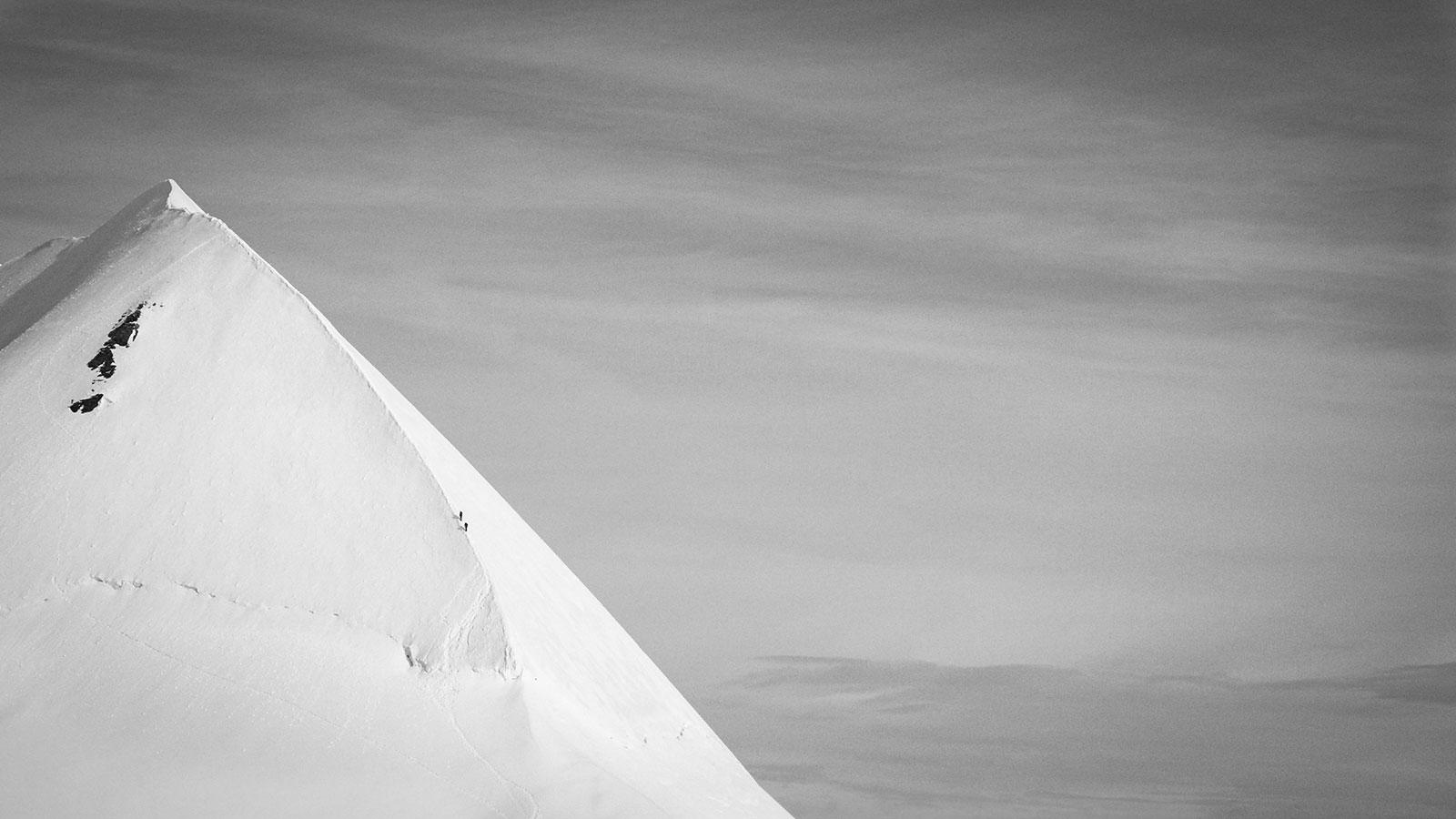 Aufstieg Lyskamm. Bergsteigen | Pauli Trenkwalder, Berge & Psychologie