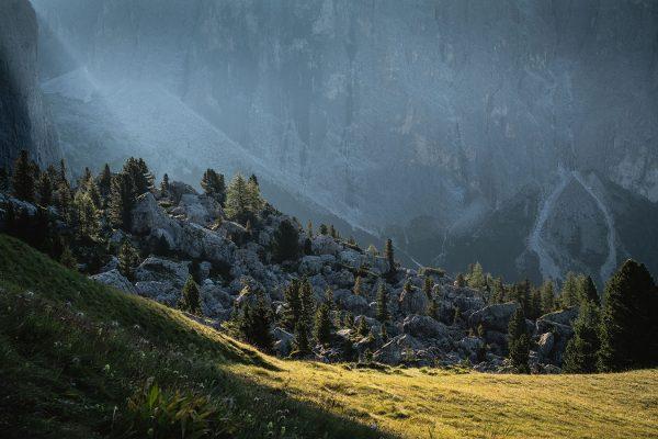 Morgenstimmung. Zustieg Dolomiten | Pauli Trenkwalder, Berge & Psychologie