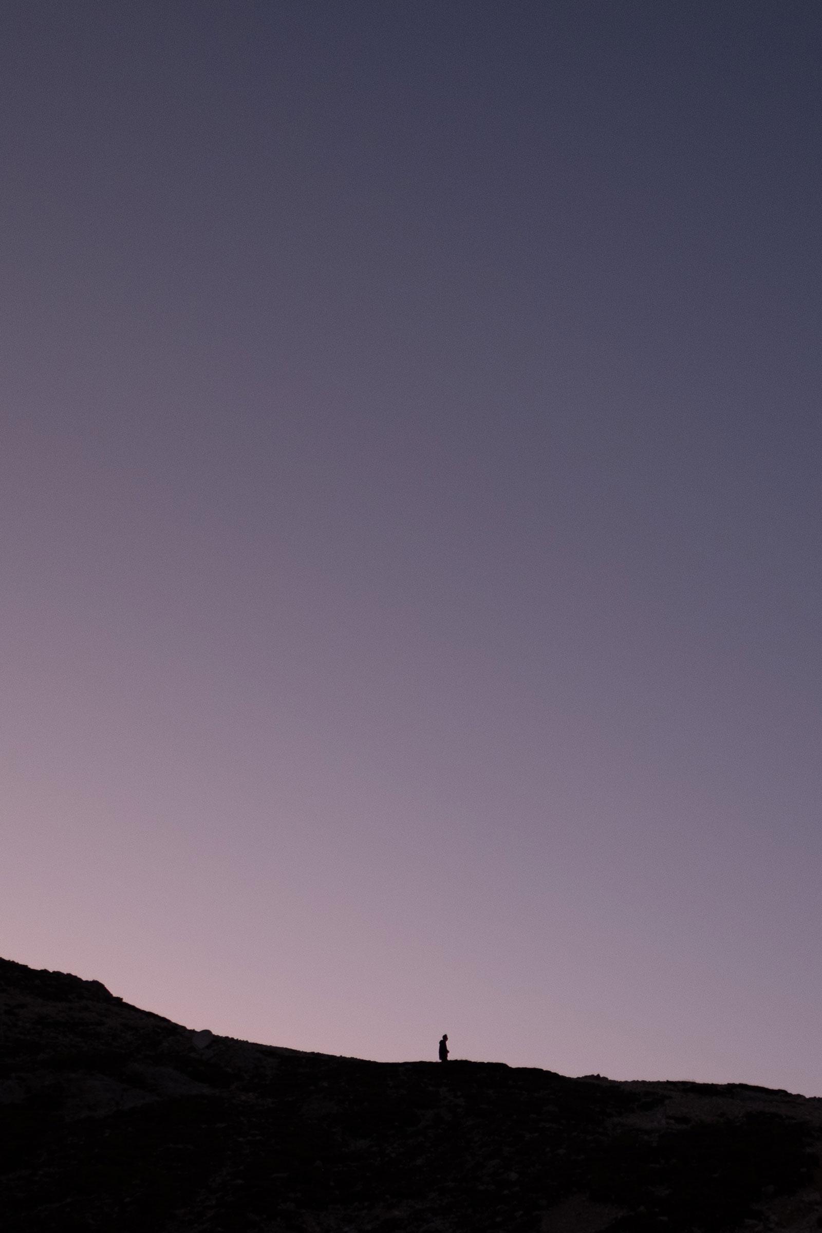 Nachdenklich. Dolomiten | Pauli Trenkwalder, Berge & Psychologie