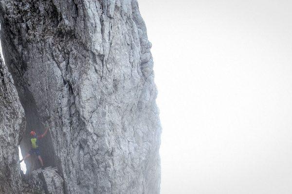 Nebel. Klettern am Wilden Kaiser | Pauli Trenkwalder, Berge & Psychologie