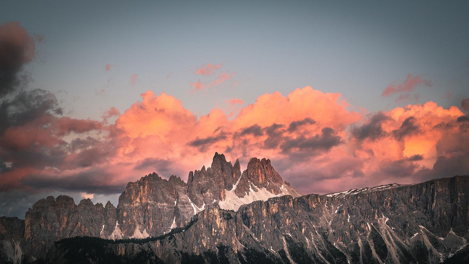 Sonnenuntergangskitsch. Dolomiten | Pauli Trenkwalder, Berge & Psychologie