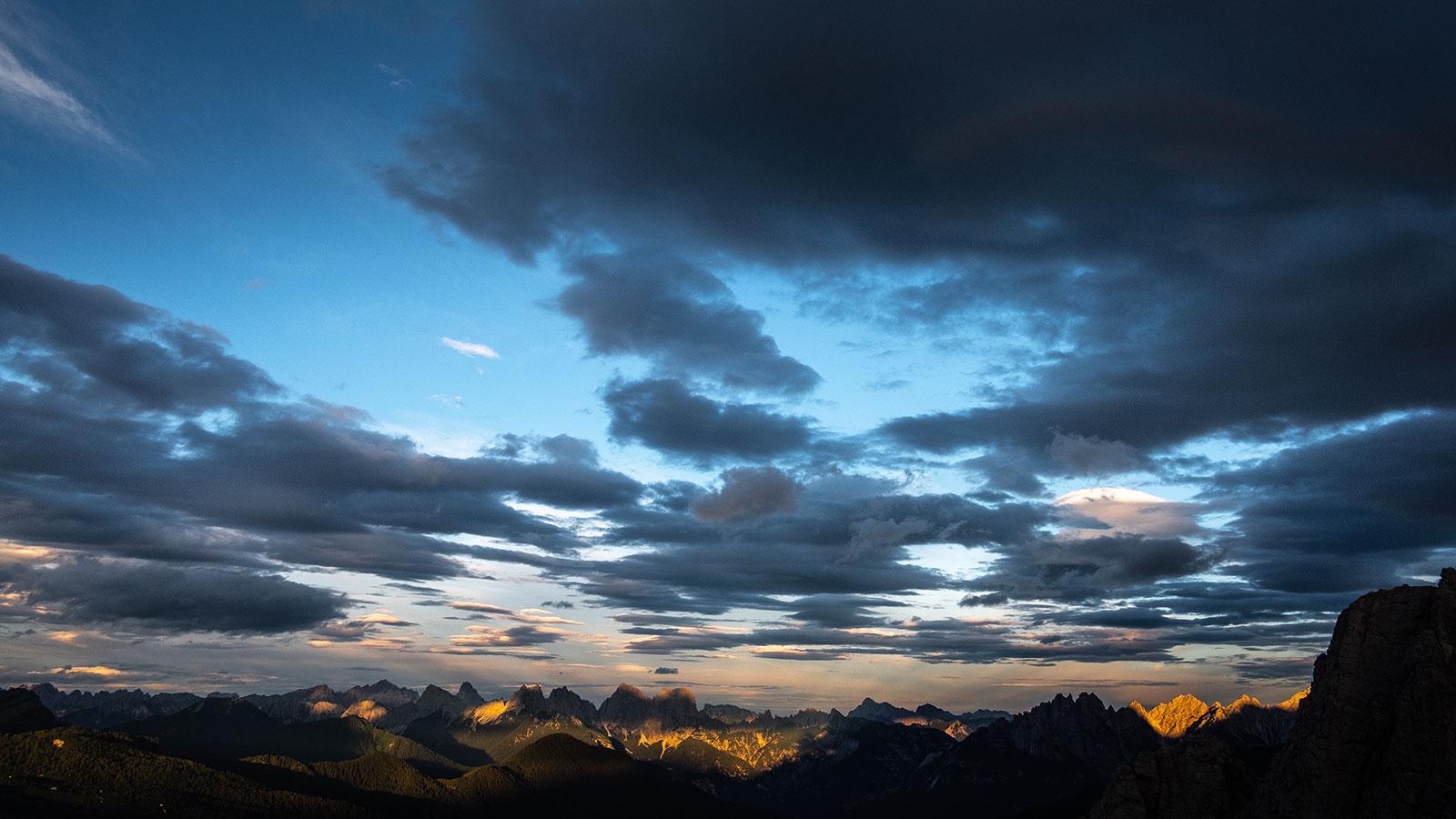 Wolken und Sonne. Dolomiten |Pauli Trenkwalder, Berge & Psychologie